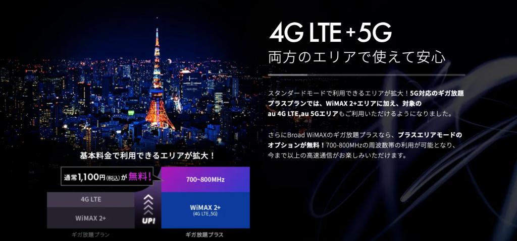 5G,WiMAX,エリア,ハイスピードプラスエリアモード,プラスエリアモード